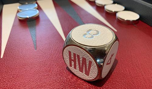 doubling cube from a luxury backgammon board
